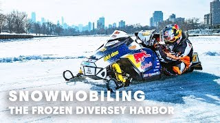Snowmobiling on the Frozen Diversey Harbor, Chicago | w/ Gunnar Sterne