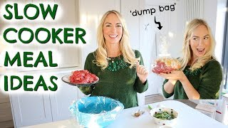 4 SLOW COOKER MEAL IDEAS  |  DUMP BAG RECIPES