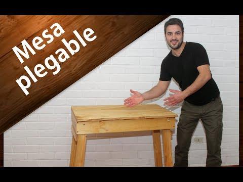 COMO HACER UNA MESA DE MADERA PLEGABLE PASO A PASO | How to make a multipurpose folding table Easy