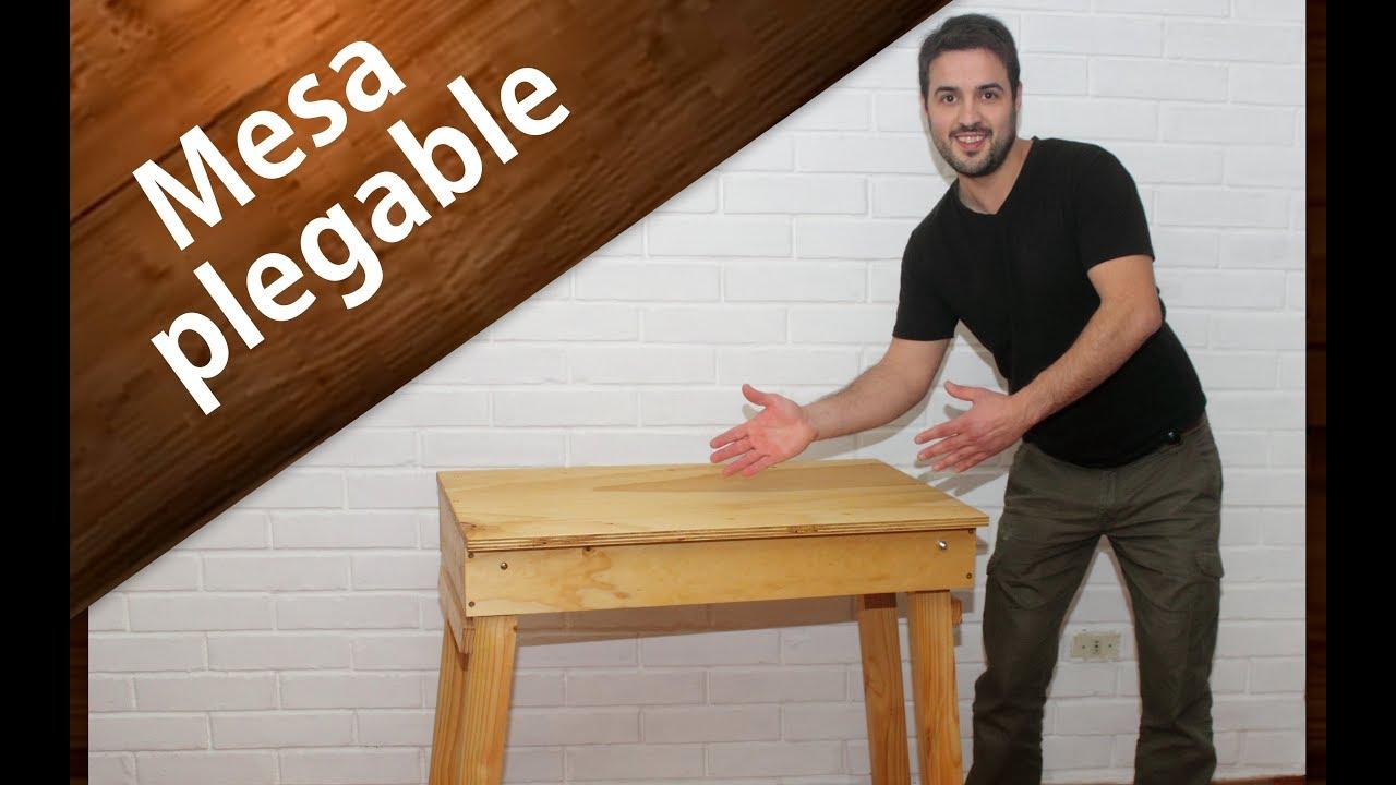 Diy c mo hacer una mesa plegable de madera f cil how - Como hacer una mesa plegable ...