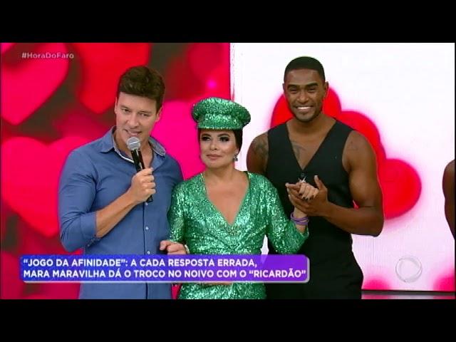 """Mara Maravilha relembra trenzinho e dança com o """"Ricardão"""""""