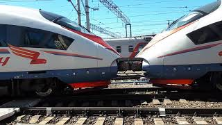 Сдвоенный Поезд САПСАН отправился на Москву
