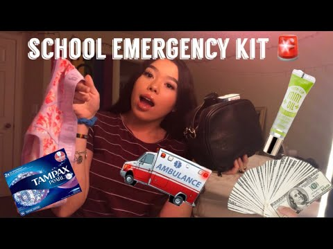 everything you NEED in your back to school emergency kit 2019 🚨