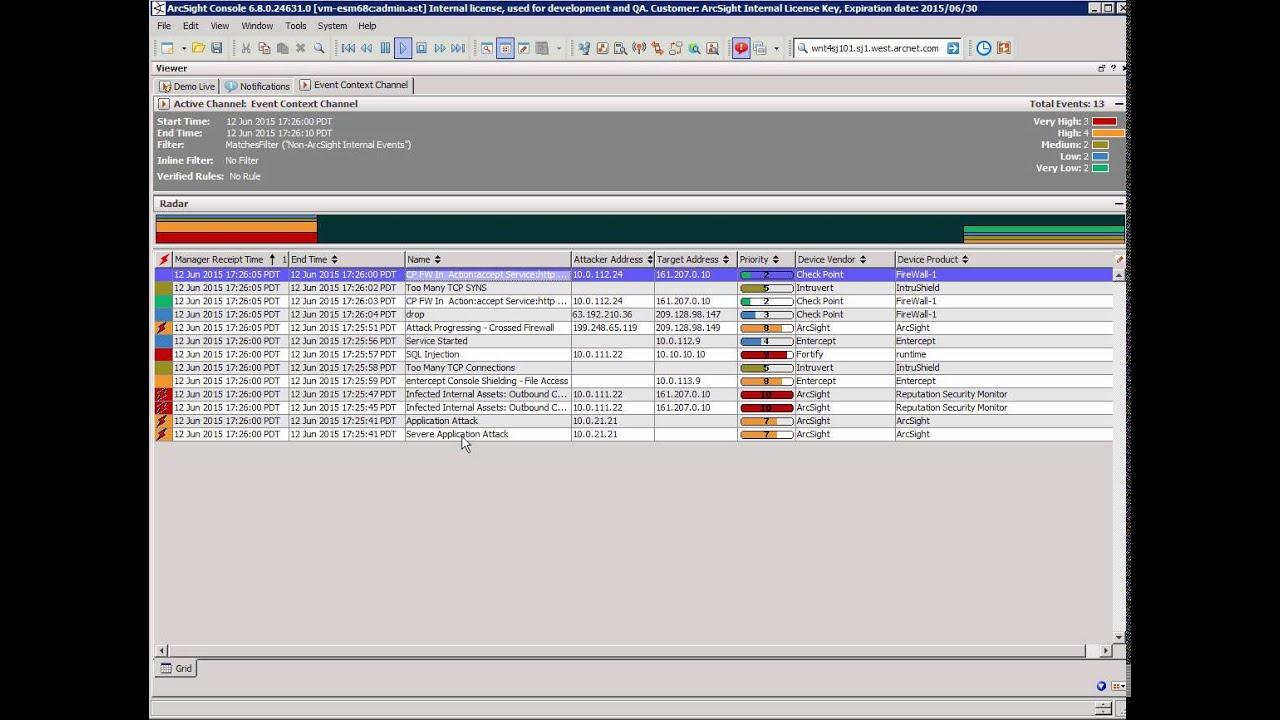 hp arcsight siem HP ArcSight ESM demonstration - short - YouTube