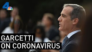 Watch Live: Mayor Garcetti Provides Updates On The Coronavirus Crisis | Nbcla