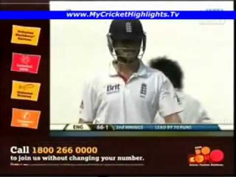 Funny shot played by Jonathan Trott 4th test 4th day 16th Dec 2012