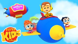 Transportation Song  + More Nursery Rhymes for Children by Super Kids Network