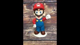 Марио из мастики  / how to make the hero of the game mario cake topper