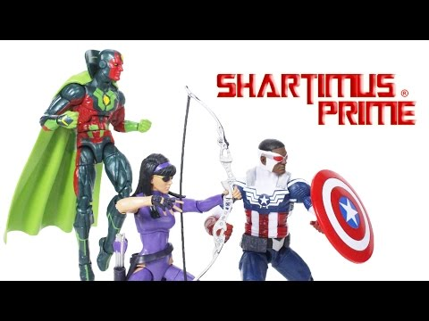 Marvel Legends TRU 3 Pack Avengers Captain America, Hawkeye, and Vision Action Figure Review