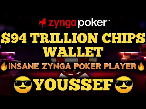 $94 TRILLION CHIPS WALLET | INSANE ZYNGA POKER PLAYER | YOUSSEF | ROAD TO $100T