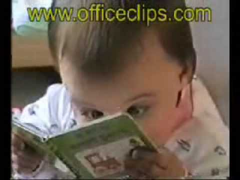 Cute and funny child reading