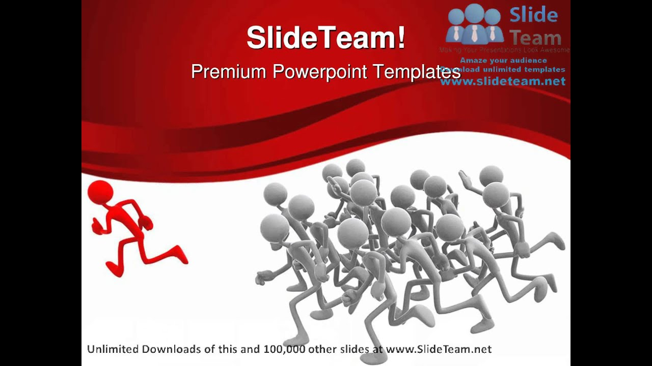 Follow The Leader Leadership PowerPoint Templates Themes And ...