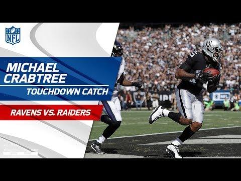 EJ Manuel Scrambles & Finds Michael Crabtree for the Long TD! | Ravens vs. Raiders | NFL Wk 5