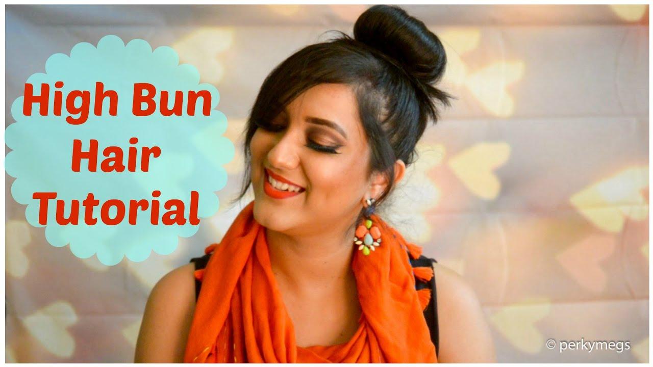 High Bun Donut Bun Hairstyle Tutorial Perkymegs YouTube - High bun hairstyle tutorial