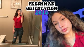 GRWM/VLOG: freshman orientation 2018