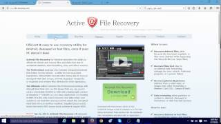 شرح وتحميل  شرح برنامج إستعادة الملفات المحذوفة Active file recovery Professional 14.0.3 للويندوز 10