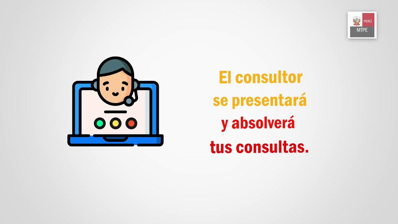 Servicios Virtuales MTPE: Pasos para ser atendido en la cita virtual