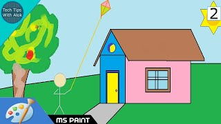 How to Draw a Simple House in MS Paint