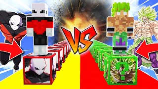 ¡BATALLA LUCKY BLOCKS JIREN vs LUCKY BLOCKS BROLY LEGENDARIO!😱💥 LUCKY BLOCKS MINECRAFT MOD