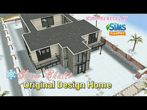 The Sims Freeplay - Snow Chalet (Original Design Home) - YouTube