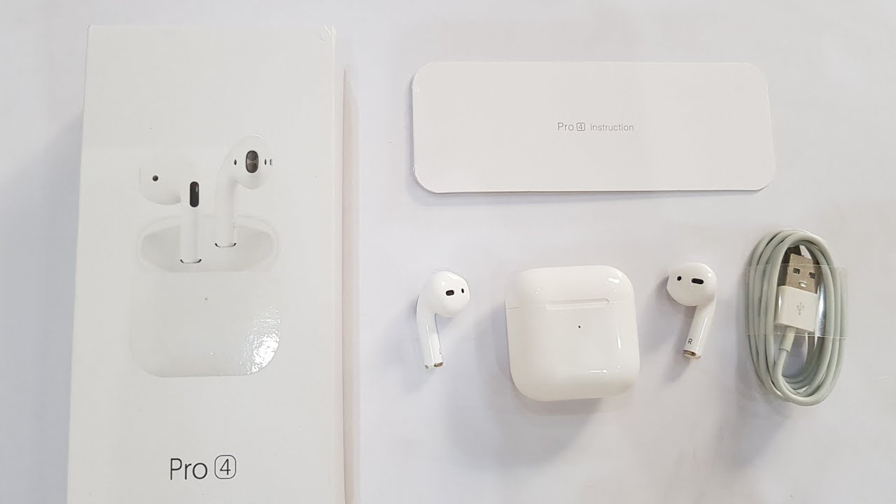 Airpods Pro 4 Mini Unboxing and Review || Apple Buds pro 4 || Airpods Super  Copy || Iphone Airpods