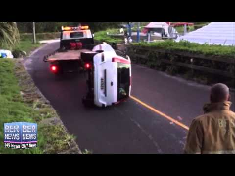 Overturned Car Removed By Tow Truck, June 23 2015