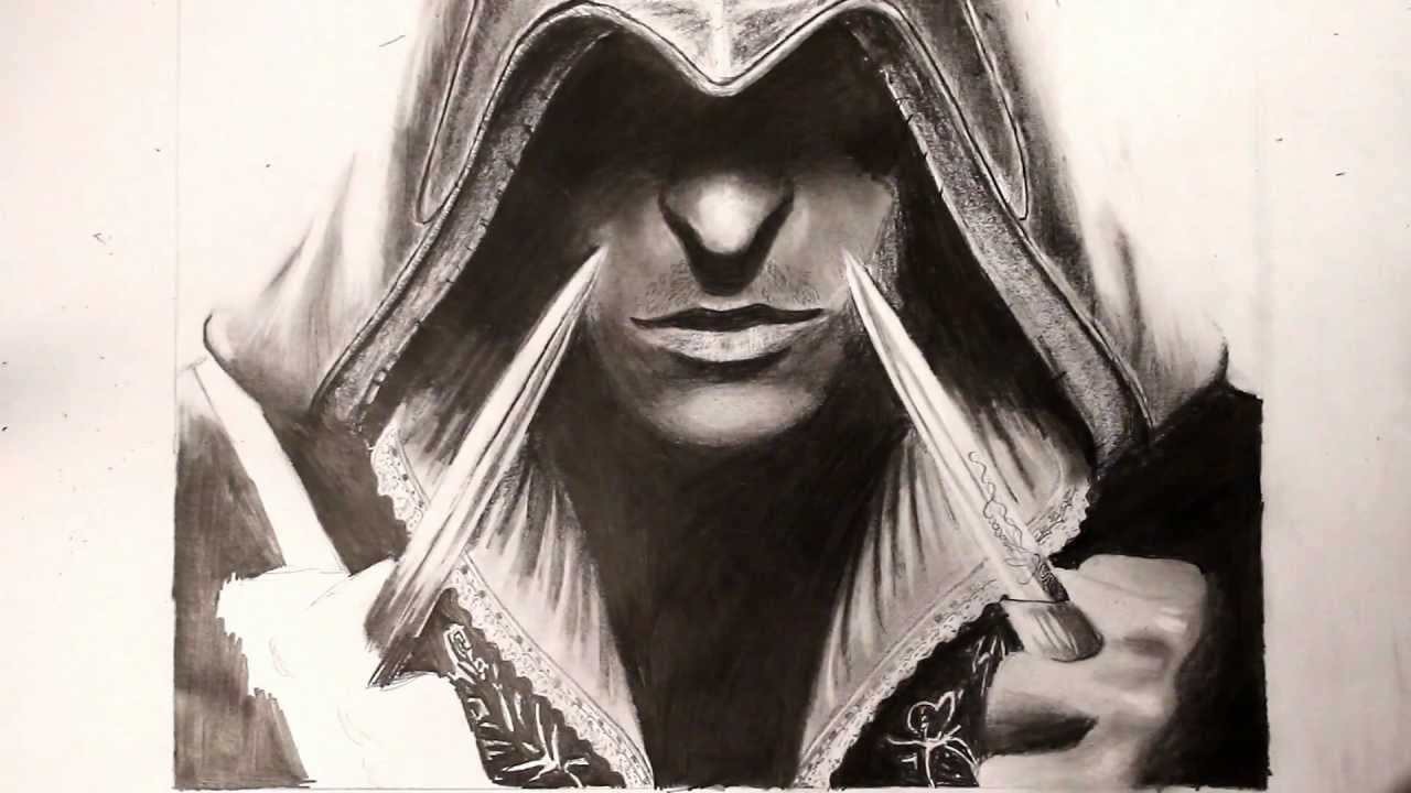 Assassin´s Creed 2- Speed drawing Ezio Auditore - YouTube