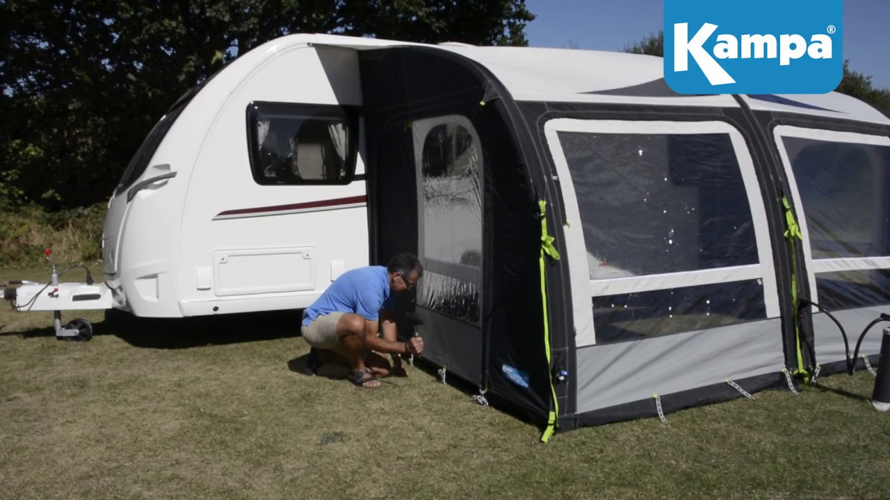 Kampa Air Awning Setup Masterclass Guide Youtube
