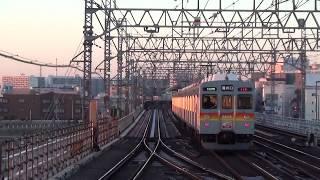 2018年初日の出×東急田園都市線・大井町線 元旦の太陽に照らされる電車も撮影[HD]
