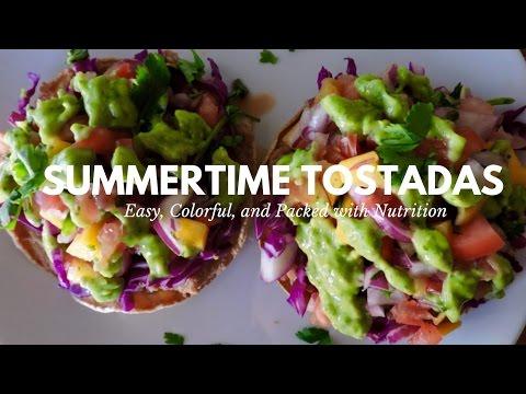 Fresh & Nourishing Tostada Recipe // VEGAN MEXICAN FOOD
