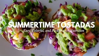 Easy Tostada Recipe (Vegan) - Easy Vegan Mexican Food - Mexican Vegetarian food