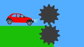 Extreme Car Crashes  Phun Algodoo Moments #13