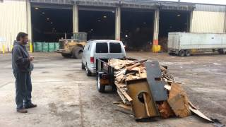 Unloading a trailer ,Not a dump the easy way