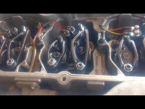 Teste depois de substituição do comando valvula do motor Cummins isc 310