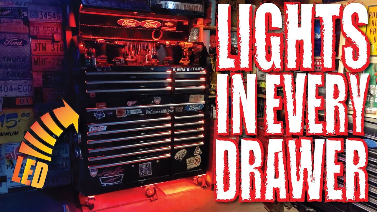 light up your tool box drawers top