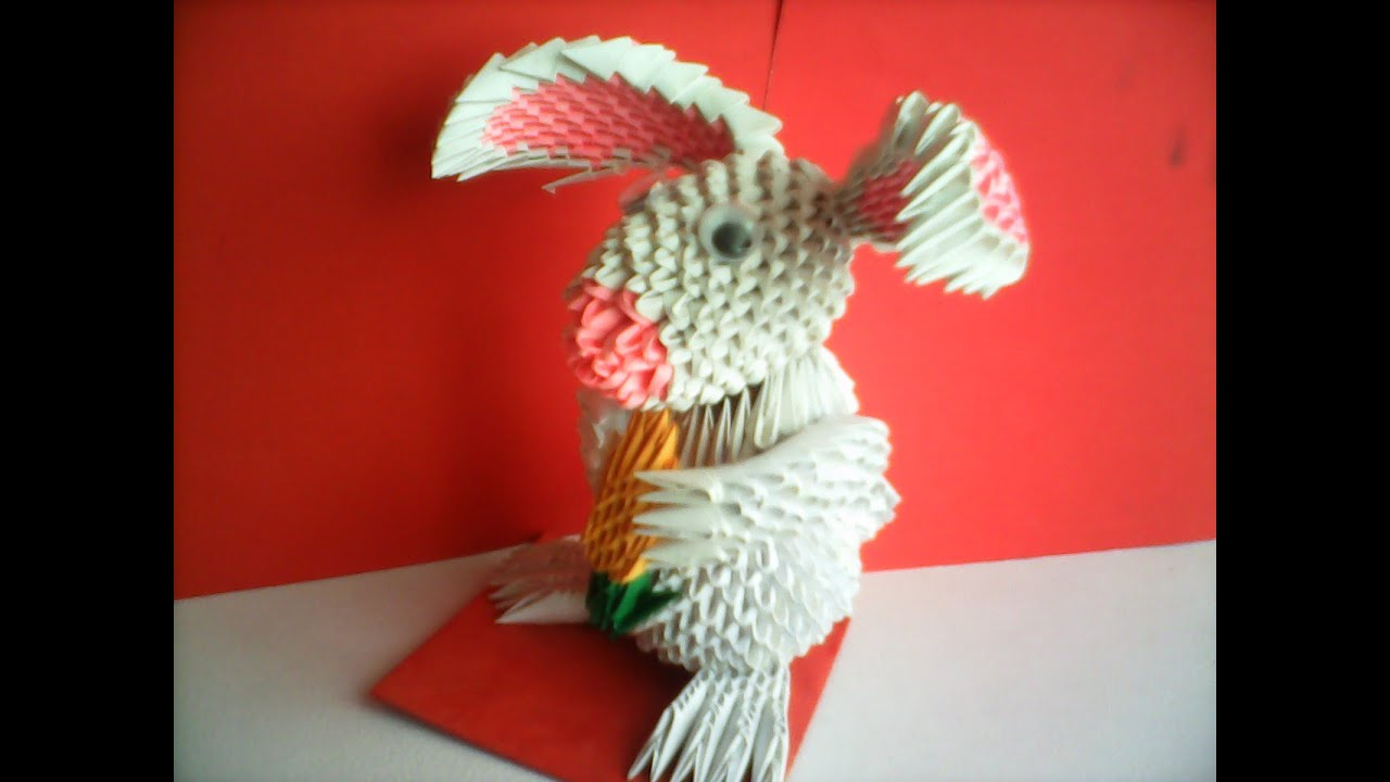 CONEJO DE ORIGAMI 3D!!!!! - YouTube - photo#13