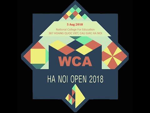 Lần đầu thi WCA. Hanoi open 2018