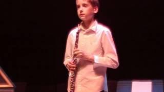 Hautbois Elouan 12 ans mars 2012 Bach sonate sol mineur BWV 1020 1er mvt 2012 03