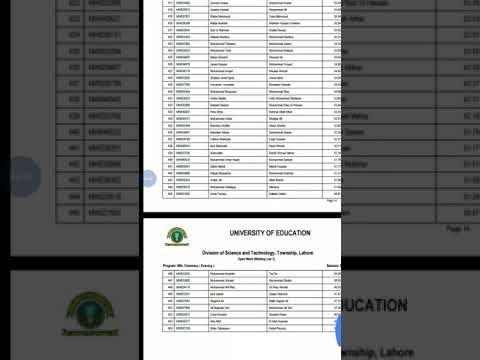 Ghazi University Merit List 2018