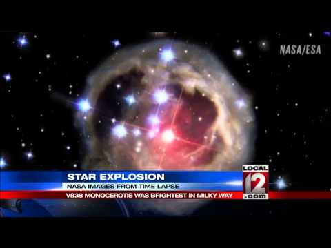NASA captures star explosion - YouTube