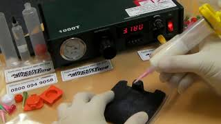 Adhesive Dispensing Ltd - Digital timed syringe dispenser air powered