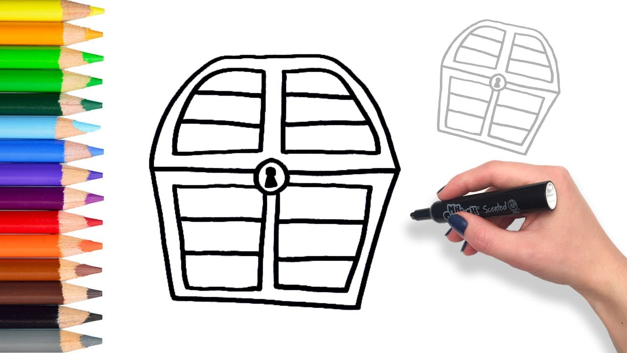 Learn How to Draw Surprise Treasure Chest | Teach Drawing ...