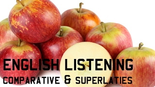 "English Listening ""BUYING APPLES"" Positive, Comparative and Superlative Degree"