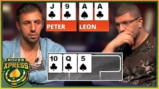 When you flop a STRAIGHT FLUSH draw!