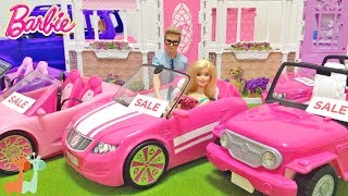 バービー くるま屋さん お買い物 新車購入 / Barbie NEW CAR!! Car Shopping : Barbie SUV Vehicle thumbnail