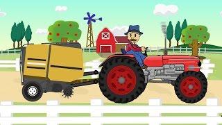 ☻ Farmer Farm Work | Straw - Bajki Traktorek ☻