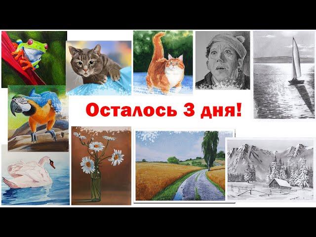 релиз онлайн курса как рисовать животных акварелью и распродажа курсов