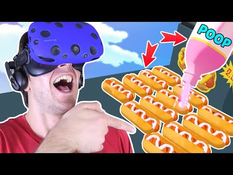 SILLY STORE CLERK PUTS POOP MEDICINE ON HOT DOGS!! || Job Simulator VR Gameplay Part 3