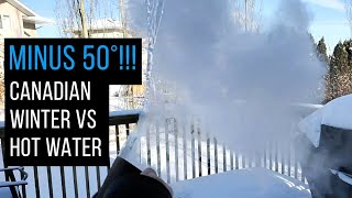 Minus 50 Canadian Wiฑter vs Hot Water - Throwing Water Into The Air At Minus 50 And Freezing Vodka