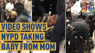 NYPD Officers Caught on Camera Trying to Rip Baby From Mom's Arms | News 4 New York